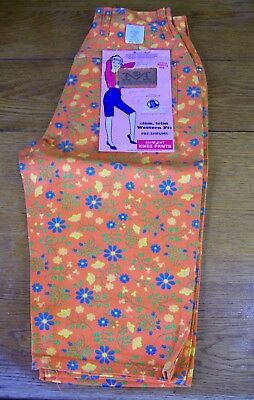 Vintage NOS NWT Pedal Pushers Maverick Knee Shorts 1970's Mod Flower Power 11/12