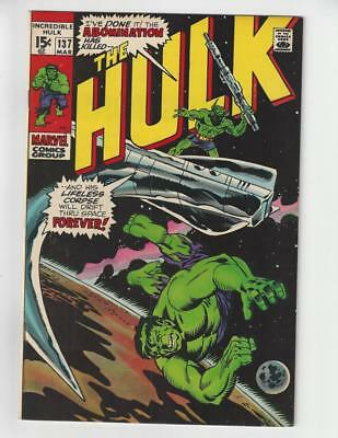 The Incredible Hulk #137/Bronze Age Marvel Comic Book/Abomination/NM