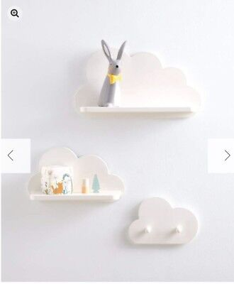 Mamas & Papas Cloud And Coat Hook Set Of Shelves Brand New In Box