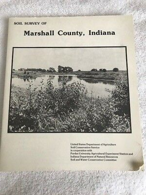Lot of 2: Indiana lake maps, Marshall Co, IN soil survey w/ maps, US Dept of Ag