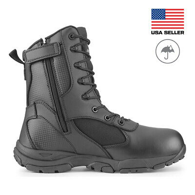 Maelstrom® TAC ATHLON Men's 8'' Black Waterproof Boots With Side Zipper