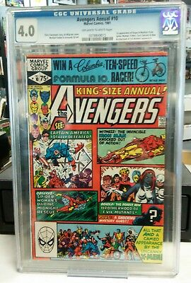 The Avengers Annual #10 1st First Rogue Appearance CGC 4.0 Marvel Comics 1981 VG