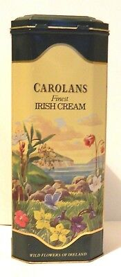 "Vintage Carolans Fine Irish Cream Tin Metal Box w/ Hinge Lid 10""x 4""x 4"""