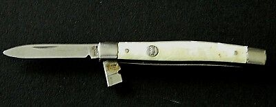 "Vintage Imperial Crown 3"" Stainless 2-Blade Folding Knife w/ Pearl Handle USA"