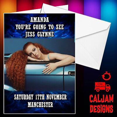 Jess Glynne Concert Ticket Gift Card Free P+P And name date or text