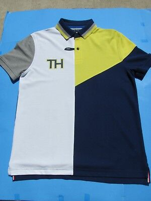 b896aa8b UV Protection SizeM Tommy Hilfiger Performance Pique Polo New York City  Wicking Herrenmode