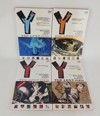 Y: The Last Man - Paperback Graphic Novel Bundle - Volumes 1, 3, 4, 7