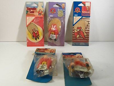 5 1990s LOONEY TUNES YOSEMITE AIR FRESHENERS - IN ORIGINAL PACKAGES