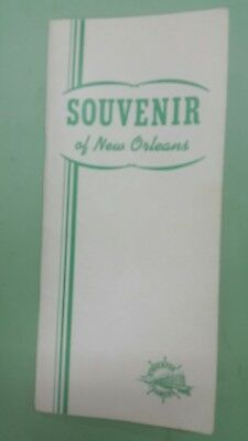 1960 Streckfus Steamers Souvenir of New Orleans travel guide/road street map