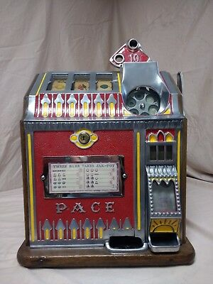 antique slot machine, vintage slot machine, pace slot machine, pace bantam