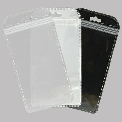 Glossy Rounded Flat Open Top Zipper Bag With Hang hole For Phone Accessories