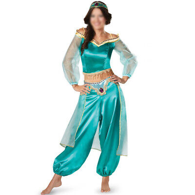 Dress Pant Adult Aladdin Lamp Jasmine Princess Halloween Costume Party Cosplay ~