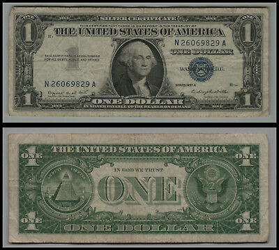 1957A United States $1 Silver Certificate Note Circulated V272