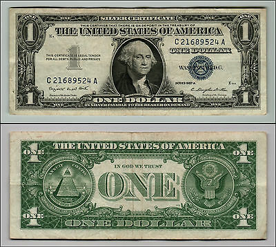 1957A  $1 Silver Certificate Note Circulated Q782