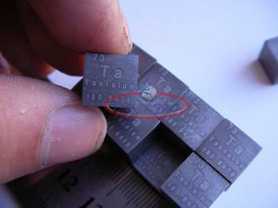 99.9% High Purity TANTALUM Ta Metal Carved Element Periodic Table 10mm Cube NEW