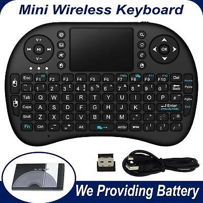 New 2.4G Mini Wireless Keyboard Mouse Touch pad For Smart TV Box PC Notebook