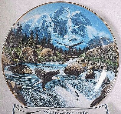 Danbury Mint Collection Bear Eagle Plate Whitewater Falls Spirits of the Wild