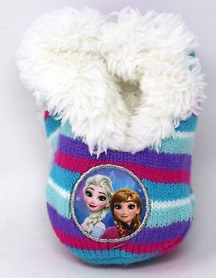 Disney FROZEN Slipper socks Pair, with Grippers fits shoe sizes 4 - 7 1/2 NWT