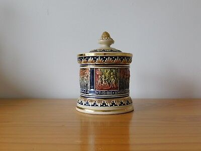 c.19th - Rare Antique German Marzi & Remy Pottery Pot  ( beer stein mug )