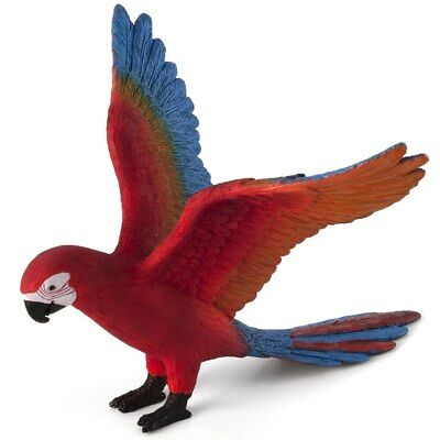 MOJO Blue & Red Macaw Parrot Bird Figure Collectible Mini Figurine
