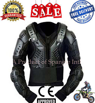 Kids - Motocross Motorbike Body Armour Motorcycle Spine Protection Guard Jacket