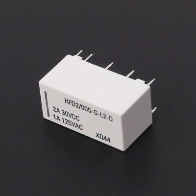Bistable 12V Coil Latching Relay DPDT 2A 30VDC 1A 125VAC HFD2/005-S-L2-D Realy