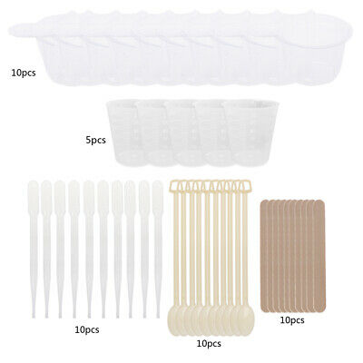 Epoxy Resin Molds Jewelry DIY Making Tool Kit With Stirrers Droppers Spoons Cups