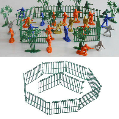 10Pcs Military Fence Sand Scene Model Army Men Accessories Children Toys Gifts
