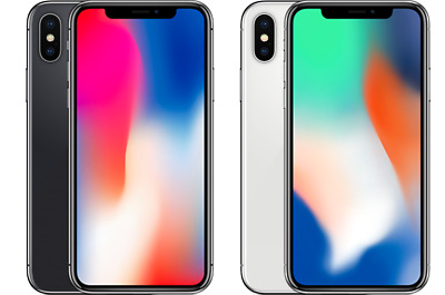 iPhone X ✤ 64GB 256GB ✤ SPACE GRAY SILVER AT&T T-Mobile Sprint Verizon Unlocked