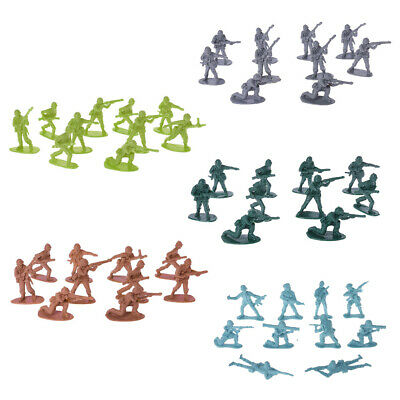 10pcs Military Army Men Plastic Toy Soldiers Figures Model Toy For Children Boys