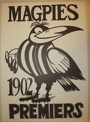 1902 Collingwood Premiers Weg poster Magpies Premiership Grand Final