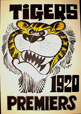 1920 Richmond Premiers Weg poster Tigers Premiership Grand Final