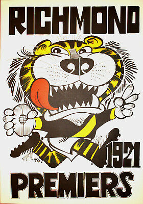 1921 Richmond Premiers Weg poster Tigers Premiership Grand Final
