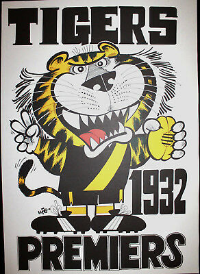1932 Richmond Premiers Weg poster Tigers Premiership Grand Final