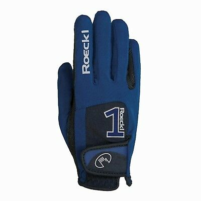 (7, navy) - Roeckl riding gloves MANSFIELD. Free Delivery
