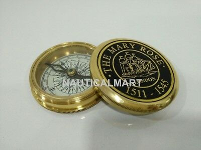 Nautical Vintage Brass Mary Rose Poem Compass Christmas Gifts By NauticalMart