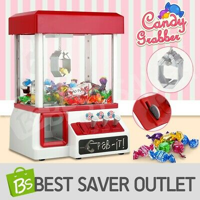 Carnival Candy Grabber Machine Vending Arcade Claw Prize Game Kids Toy w/ Coins