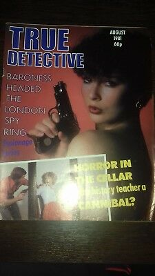 true detective magazine august 1981 good condition for age