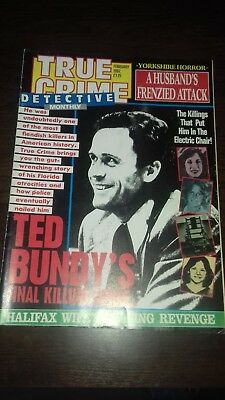 true crime detective monthly magazine february 1992 good condition for age