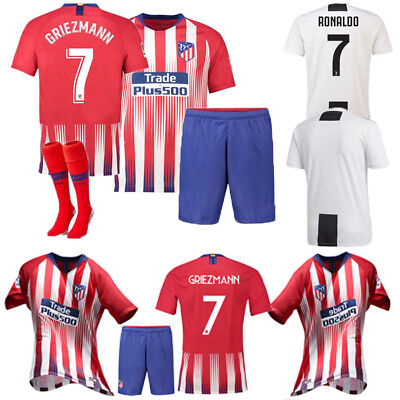 9f5f1507350 2018 19 Football Short Sleeve Jersey Kid 3-14Y Soccer Adult Outfit Kit Club
