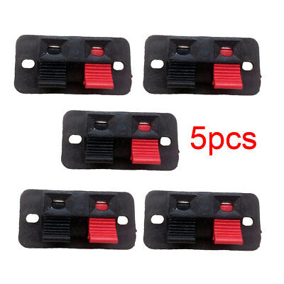 2 Position Push in Jack Spring Load For Audio Speaker Terminal Panel Connector