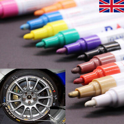 12 Universal Waterproof Permanent Paint Pen Oil Marker for Car Tyres Arts&Craft