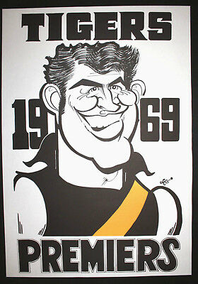 1969 Richmond Premiers Weg Poster Michael Green Tigers Premiership Grand Final