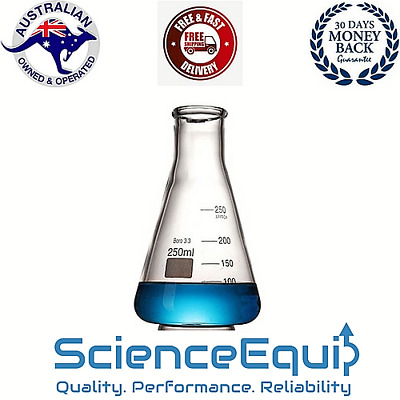 Conical Flask Graduated ERLENMEYER 5 to 5000 ml Pre Borosilicate Glass