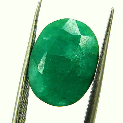 4.67 Ct Certified Natural Green Emerald Loose Oval Cut Gemstone Stone - 131263
