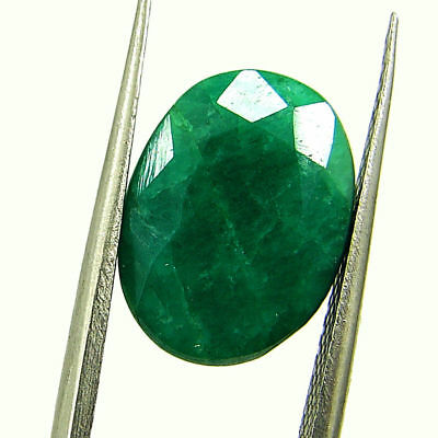 4.87 Ct Certified Natural Green Emerald Loose Oval Cut Gemstone Stone - 131268