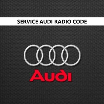 Code Pin Radio Audi, Service Decode For all Rcd And Rns Audi, Fast Delivery Code