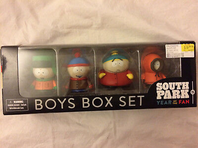 South Park Year Of The Fan Boys Box Set Figures Kyle Stan Cartman Kenny **NEW**