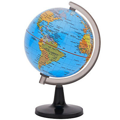 10 inch 25cm deluxe blue ocean rotating desktop world earth globe desktop world globe 42 transparent base blue ocean geography earth globes map gumiabroncs Image collections