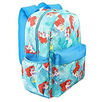 "Backpack - Disney - Little Mermaid Ariel Blue Allover 16"" School Bag 003557"
